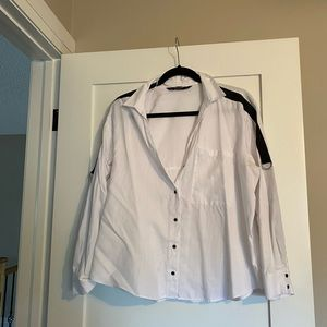 Zara shoulder stripe blouse